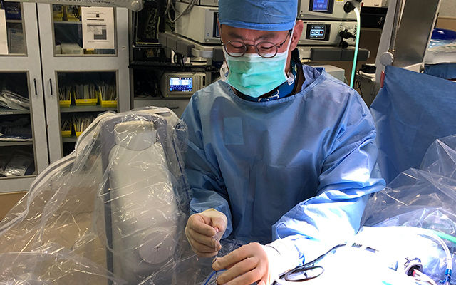Dr. Jae Lim, MD performing and endoscopic spine surgery in Reston, VA