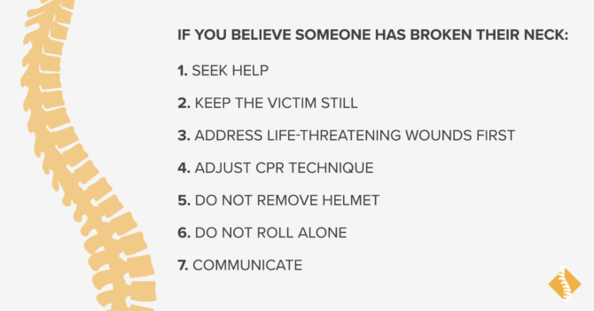 What Should You Do If You Think Someone Has Broken Their Neck