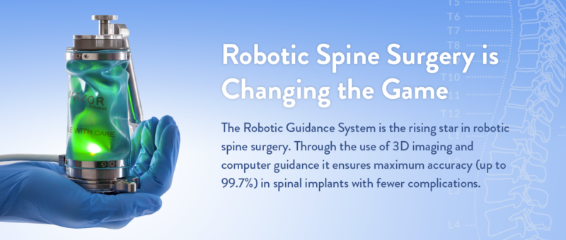 Robotic spine surgery is changing the game in minimally invasive spine surgery
