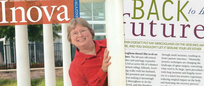 Kay Mercogliano is back to her old self after minimally invasive spine surgery to treat her back pain.