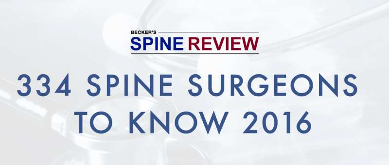 Dr. Lim Named On Becker's Spine Review List of Spine Surgeons to Know